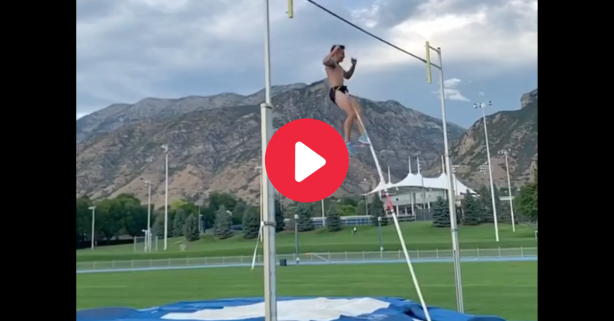 "Pole Vaulter Spears His ""Package"" In Gut-Wrenching Injury"