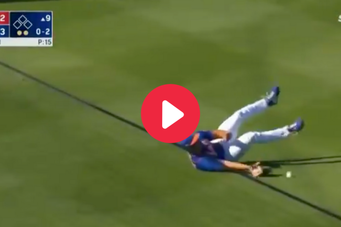 Tim Tebow Trips Over Shoelaces, Fails to Catch Game-Ending Fly Ball