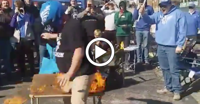 Man Sets Groin on Fire, Proving XFL Fans Are Crazy as Hell