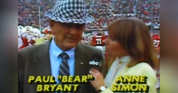 Bear Bryant's Angry Interview Leaves Sideline Reporter Speechless