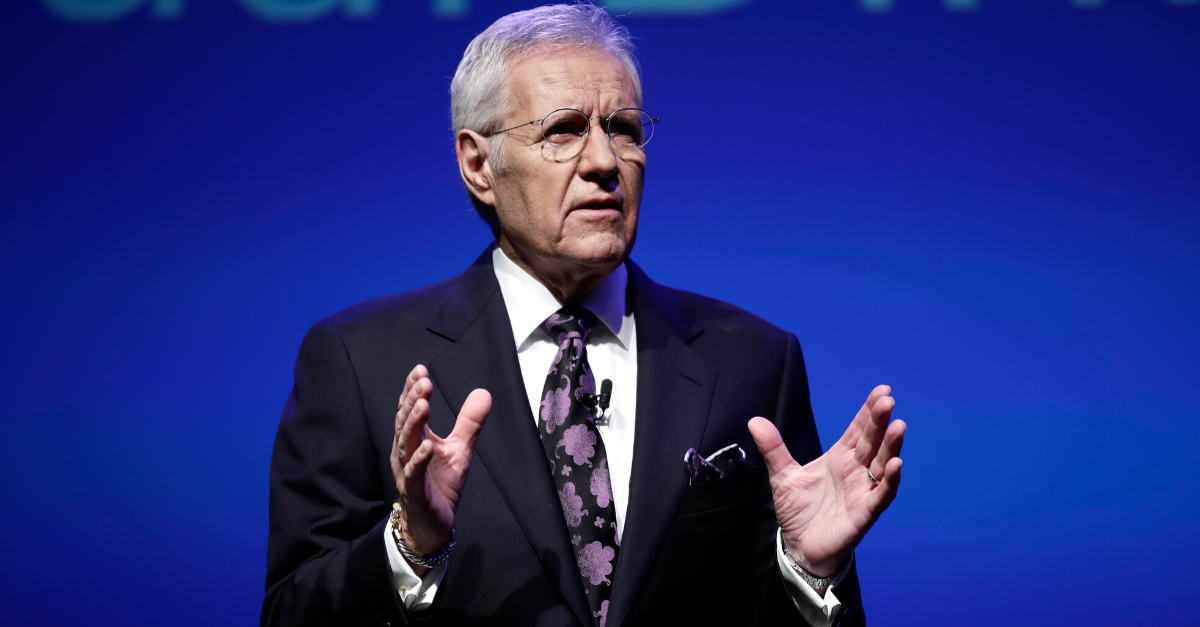 Alex Trebek Makes Fun of Michigan Fan for Alabama Bowl Loss