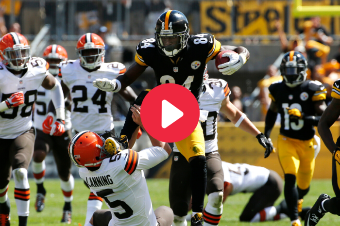 Antonio Brown Karate-Kicked a Punter Like It Was Nothing