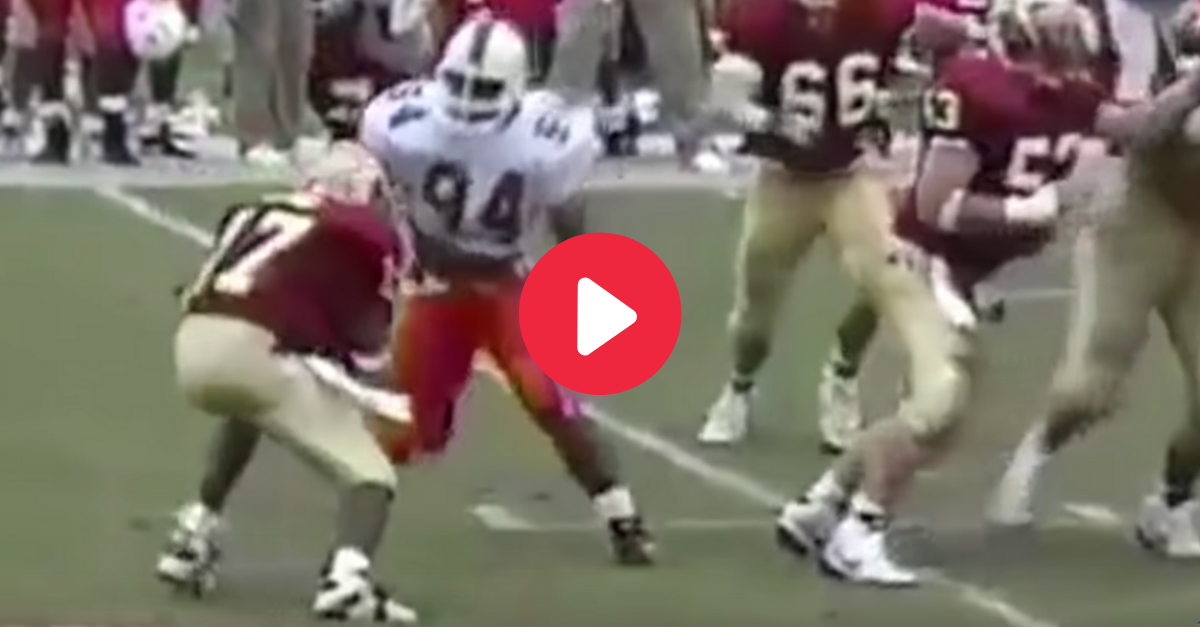 'The Rock' Sacked a Heisman Winner During His Playing Days