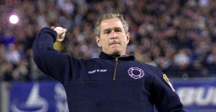 President Bush's First Pitch at 2001 World Series Healed a Nation