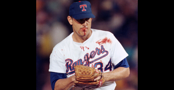 Nolan Ryan Took Bo Jackson's Liner to the Face, But He Kept Pitching