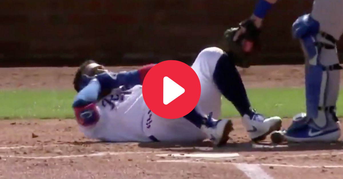 Rangers Outfielder Takes 95 MPH Fastball to Face, Fractures Jaw