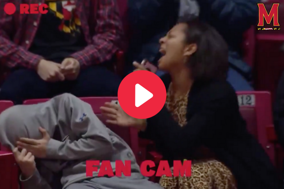 Mom Embarrasses Her Son With Jumbotron Lip-Sync Performance