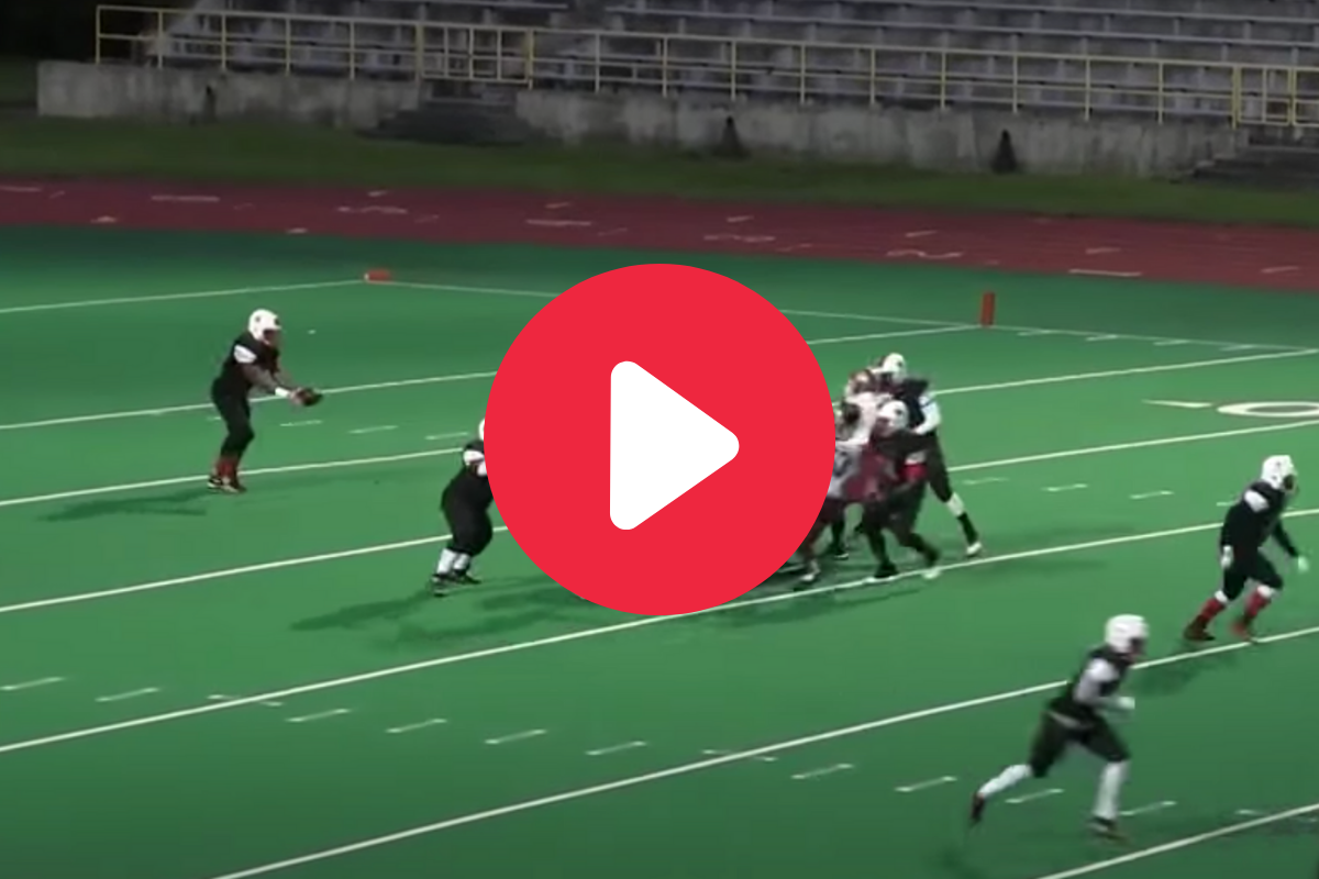 High Schooler's 86-Yard Rolling Punt Made the Field Look Sloped