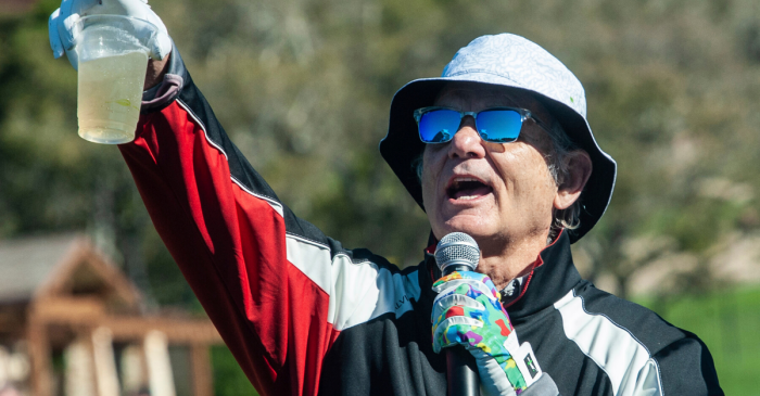 Bill Murray Joins 'All In Challenge' With Round of Golf at Pebble Beach