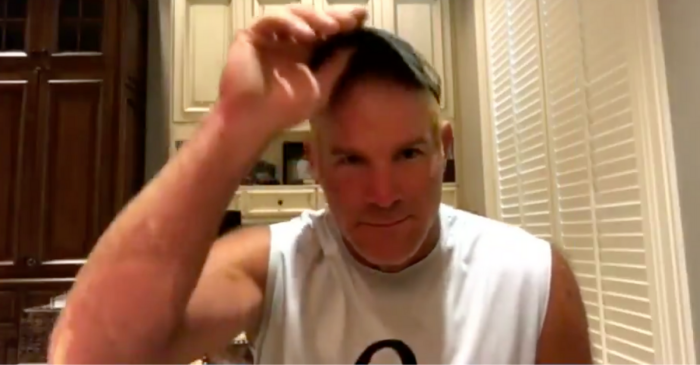 Brett Favre Lets His Daughter Dye His Hair Orange