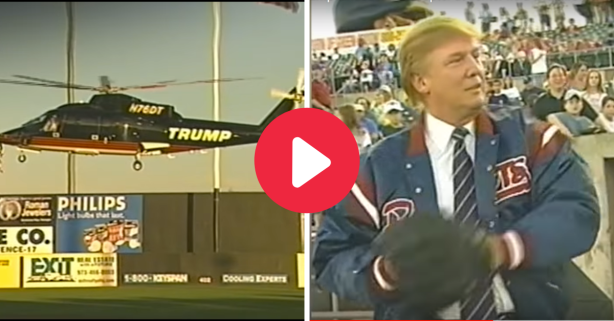 Donald Trump Helicoptered Into Stadium, Then Bounced His First Pitch