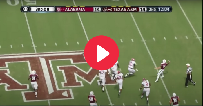 Johnny Manziel's Houdini Scramble Versus 'Bama Can't Be Topped