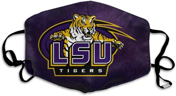 Mouth Mask LSU Tigers Unisex Adult Black Face Mask Cute Animal Flower Anti Dust Mask