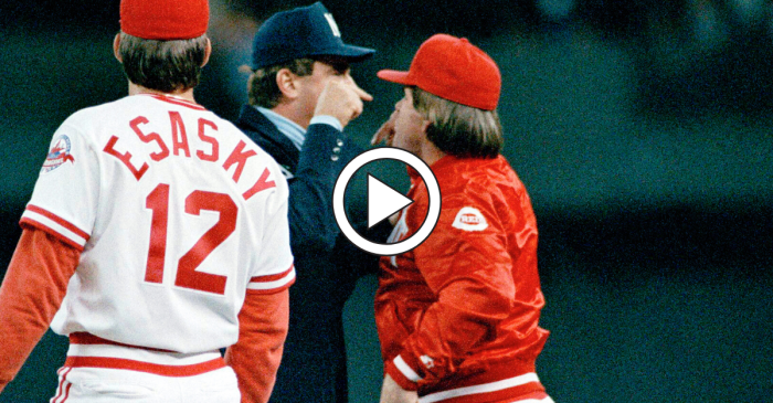Pete Rose Pushed an Umpire and Sparked a Mini Riot