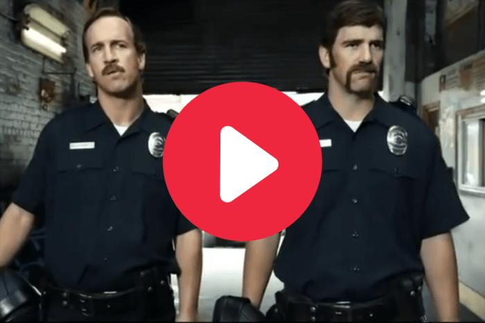 Peyton & Eli Manning Hunting Criminals as 'Football Cops' Deserves an Oscar