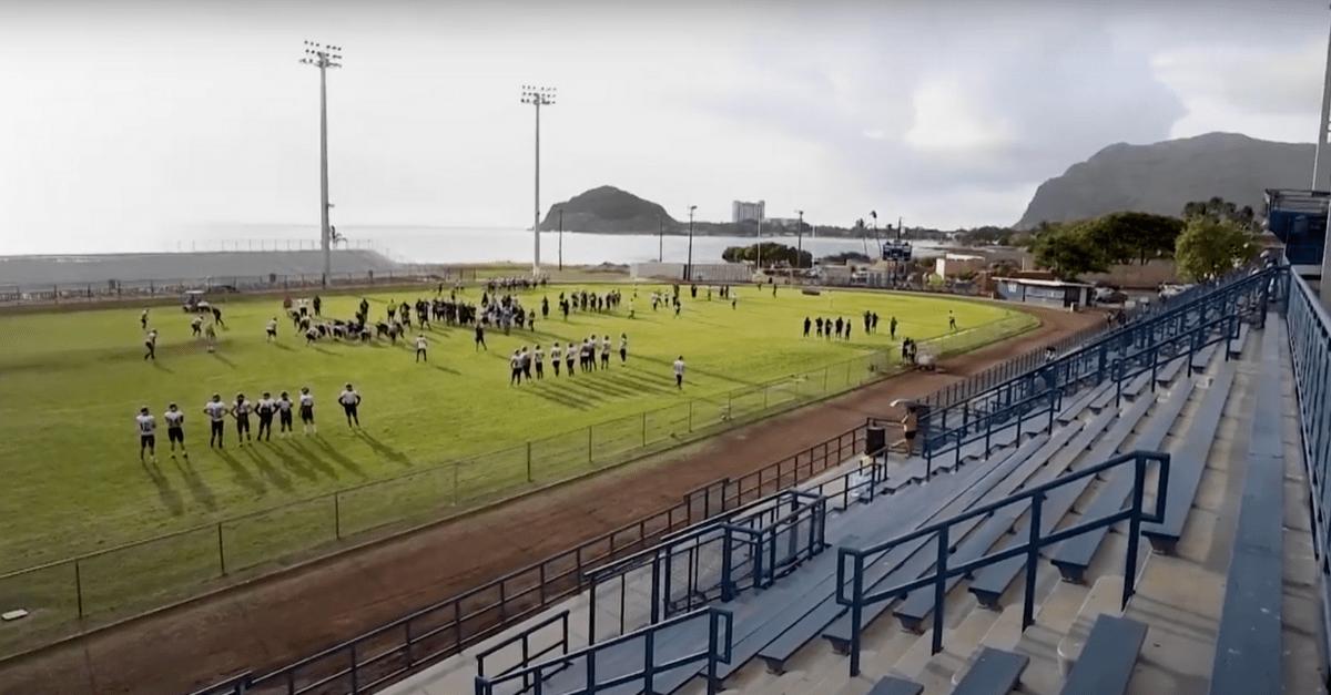 Hawaii's Raymond Torii Field Sits Between Ocean and Mountains