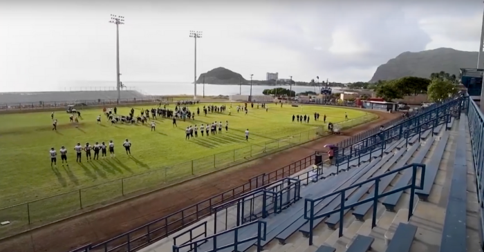 Hawaii's Raymond Torii Field Sits Between Ocean and Mountains