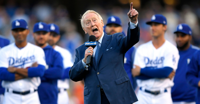 Vin Scully, 92, Hospitalized After Falling at Home