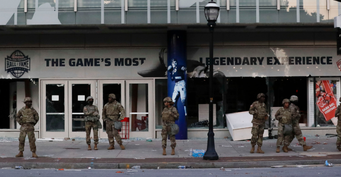 Photos: College Football Hall of Fame Vandalized in Atlanta Riots