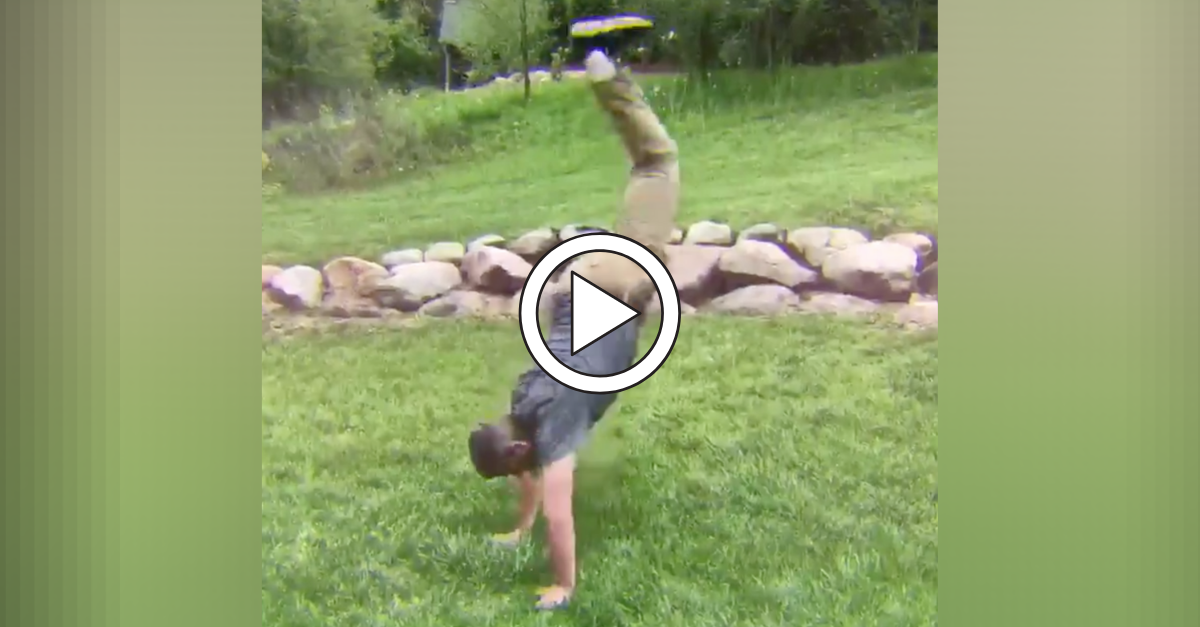 Jim Harbaugh Does Cartwheel in Recruit's Commitment Video