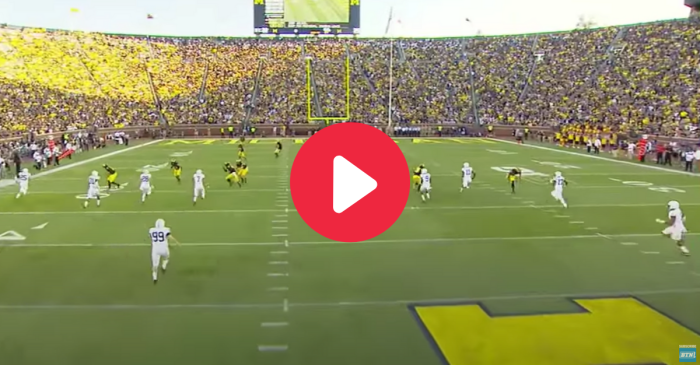 260-Pound Kicker Lowers Boom on Unsuspecting Returners