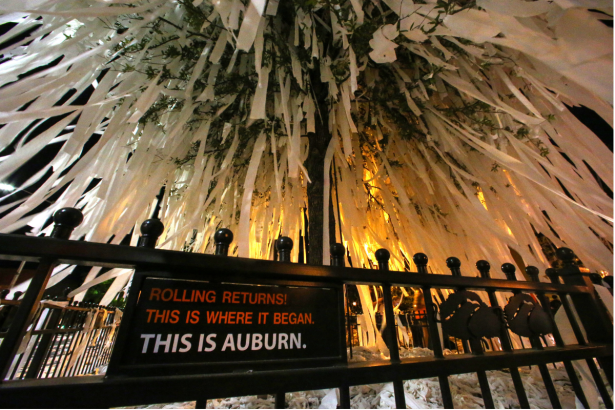 Rolling Toomer's Corner is an Untouchable College Tradition