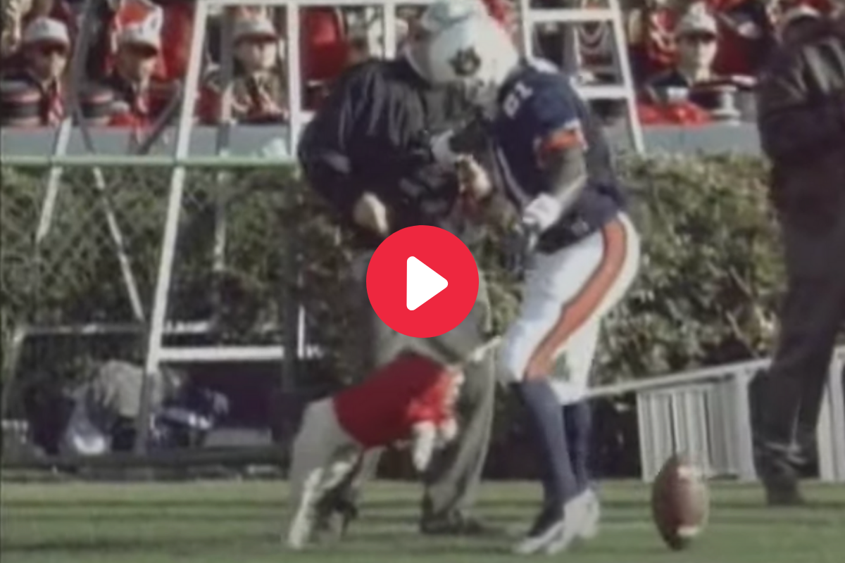 Remember When Uga Snapped at an Auburn Player's Crotch?