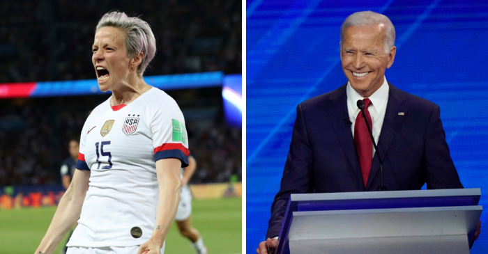 Megan Rapinoe Offers To Be Joe Biden's Vice President