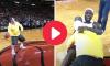Miami Heat fan, halfcourt shot