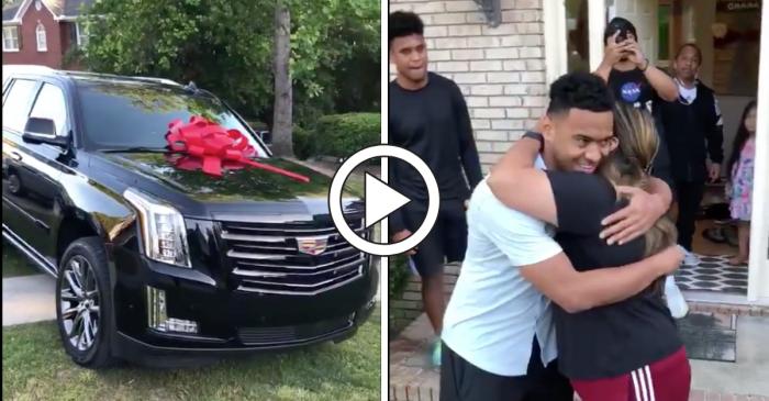 Tua Tagovailoa Surprises Mom With New SUV