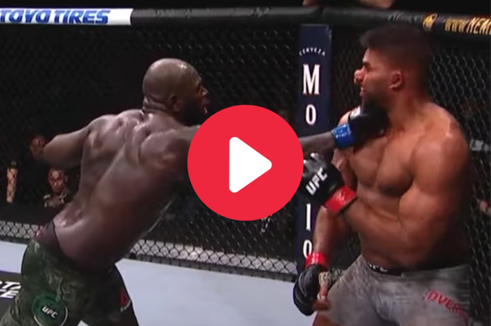 UFC Fighter's Lip Explodes From Massive Right Hook