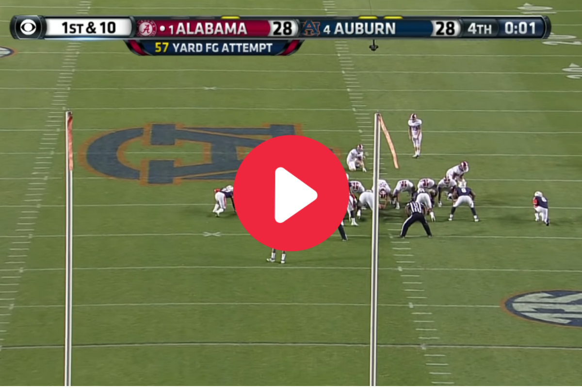 The Kick Six Relive Auburn S Famous Walk Off Td Against Alabama Fanbuzz
