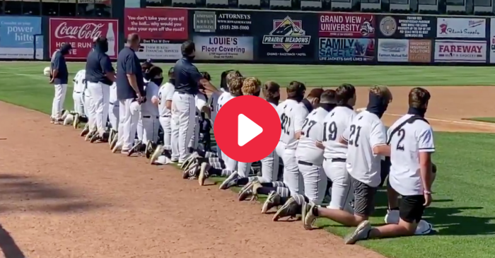 Entire Baseball Team Kneels for National Anthem Before Season Opener