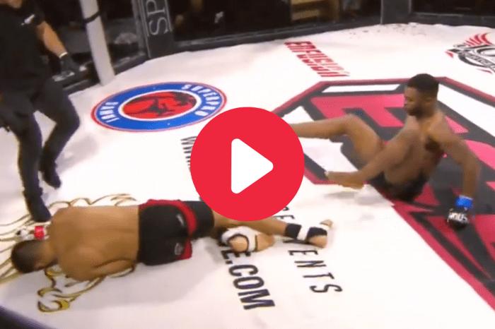Crushing Left Hooks End in Rare Double Knockdown KO