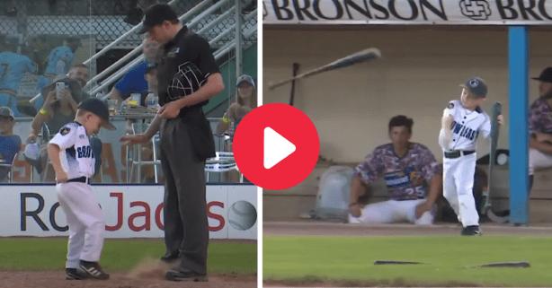 6-Year-Old Baseball Coach Kicks Dirt on Umpire in Hilarious Tantrum