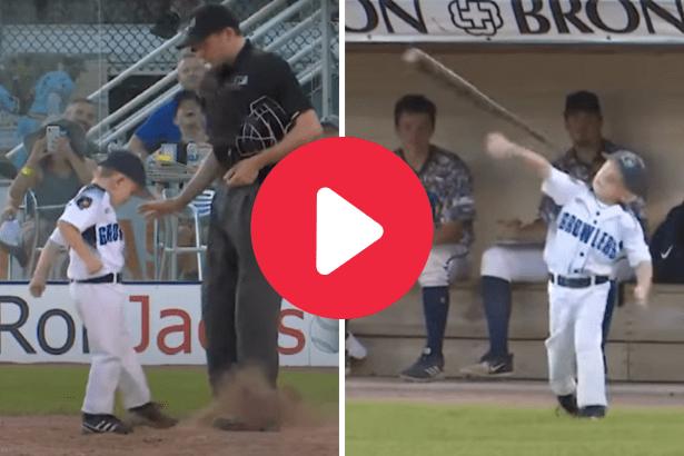 6-Year-Old Coach Kicks Dirt on Umpire in Hilarious Tantrum