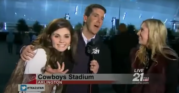 Drunk Texas A&M Girls Confess Love for Johnny Football on Live TV