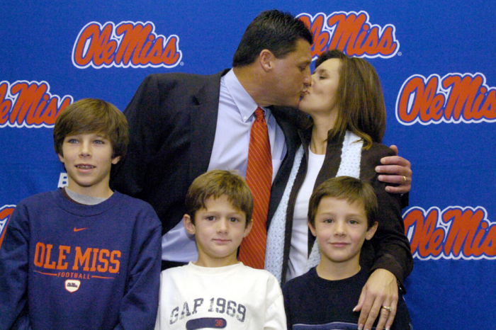 Ed Orgeron's Kids Are Following His Coaching Footsteps