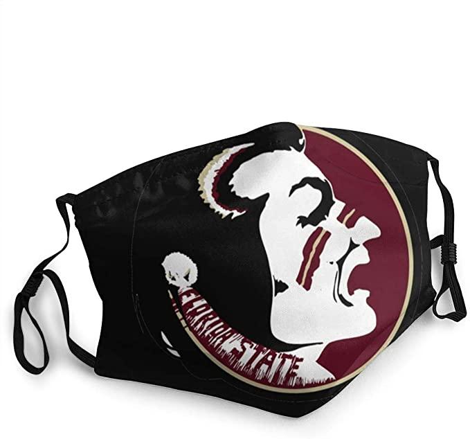 Face Masks Florida State Seminoles Cotton Anti-dust Unisex Mouth Masks Fashion Washable Masks for Women Men Teen Black