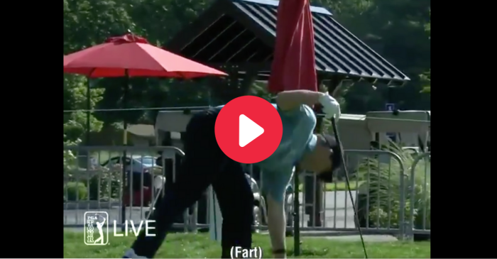 Golfer Rips Massive Fart on Live TV After Tee Shot