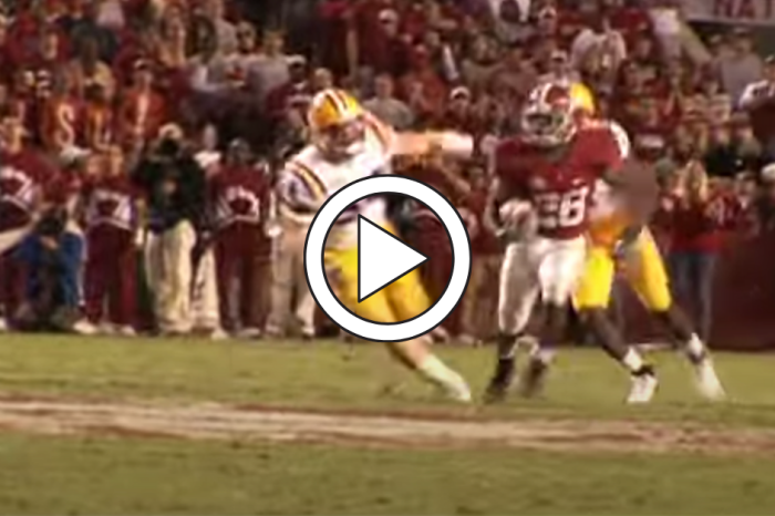 "Javier Arenas' Punt Return TD Made the ""Saban Bowl"" an Instant Classic"
