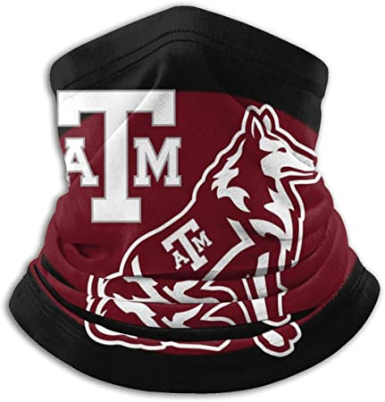 NCAA Texas A&M Aggies Face Bandanas Neck Gaiter Face Cover Scarf Balaclava Lightweight Breathable Outdoor Sport Running Cycling