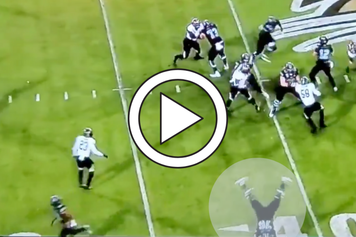 300-Pound Lineman's 'Cartwheel' Trick Play Never Gets Old