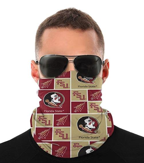 University Team Logo Windproof Face Mask Sports Neck Gaiter Multifunctional Scarf for Men Women