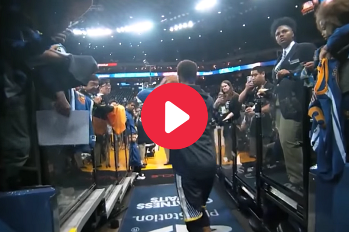 Steph Curry Draining Tunnel Shots Doesn't Seem Real