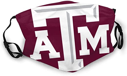 Texas A&M Aggies mask Unisex Anti Dust face Cover Washable Reusable Mouth mask for Outdoor Fishing Hunting Black