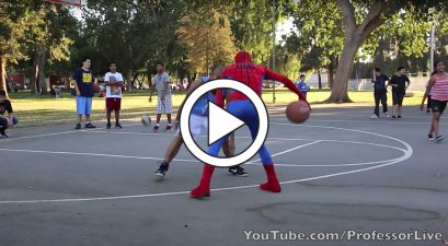 """Spider-Man"" Schools Hoopers When He's Not Fighting Crime"