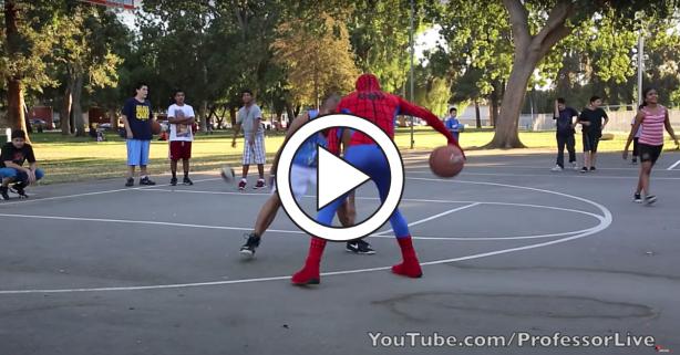 """""""Spider-Man"""" Schools Hoopers When He's Not Fighting Crime"""