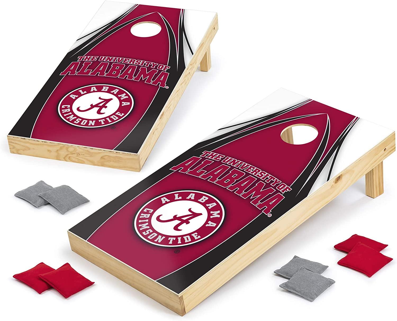 Wild Sports NCAA Cornhole Outdoor Game Set, V Logo Design, 2' x 4' Foot - Tournament Series