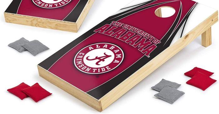 Take an Alabama Cornhole Set to Your Next Crimson Tide Tailgate